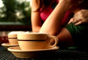 cafe en la primera cita