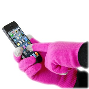 guantes rosados