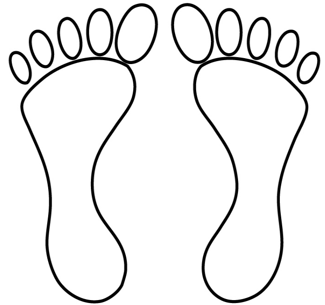 Huellas de pies para recortar - Imagui